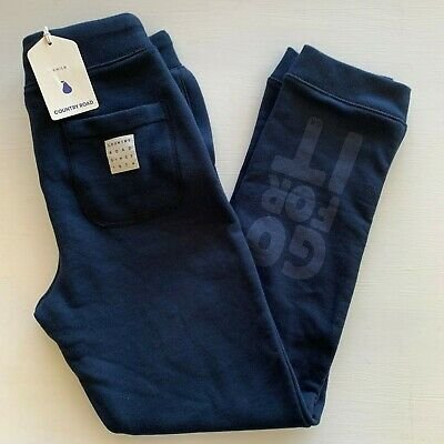COUNTRY ROAD : NEW! SZ 10 BOYS navy tracksuit pants track pants [CR LOVE]