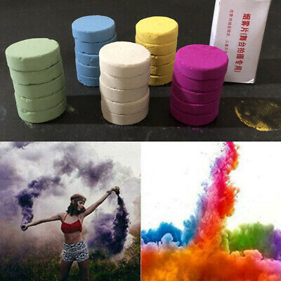5Pcs Colorful Smoke Cake Pills Bomb Stage Show Photography Aid Decor Props Tool