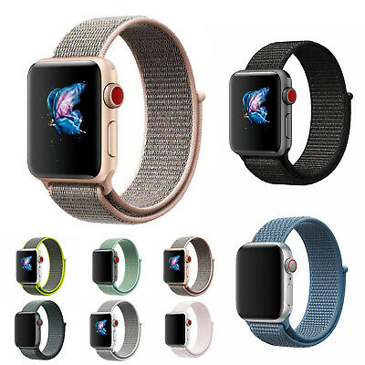 For iWatch series 4 3 2 1 Nylon Woven Sport Loop Watch Band 38 40 42 44mm