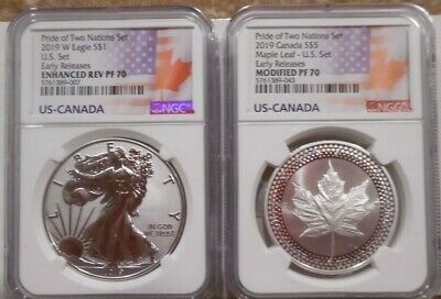 2019 Pride of Two Nations Limited Edition Two Coin Set, NGC 70 ER