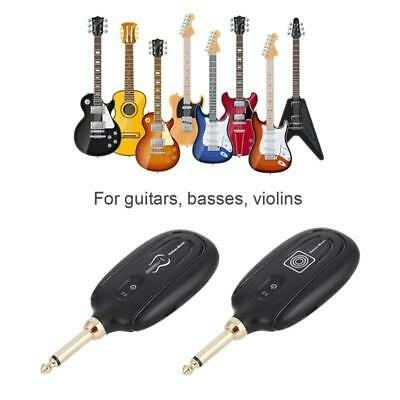 Wireless Guitar System -  Guitar Wireless Receiver UHF Built-in Rechargeable Set