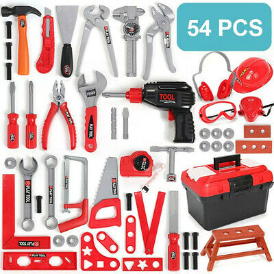 Kids Tool Toy Construction Toolbox Pretend Toys With Electric Drill54PCS  Sets