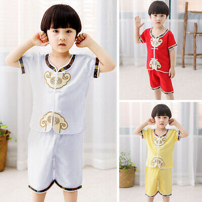 Kids Baby Boy Girls Summer Cotton T-shirt Top+Short Pants Outfits Clothes Set
