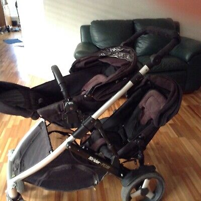 Spacious Black Steelcraft Strider Plus Double Jogger Pram. Good condition.