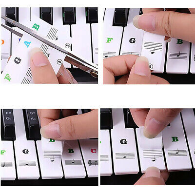 88/61/54/49 Key Music Keyboard Piano Sticker Removable Laminted Sticky Stickers