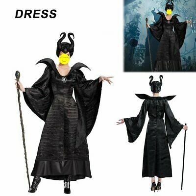 Adult Women Deluxe Plus Size Maleficent Christening Gown Costume Cosplay AK