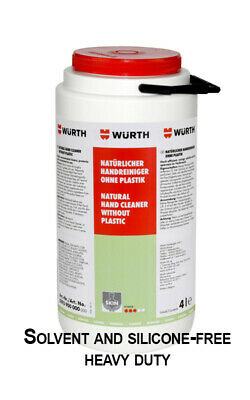 WURTH NATURAL HEAVY DUTY HAND CLEANER DEGREASER 4LTR (Solvent and silicone-free)