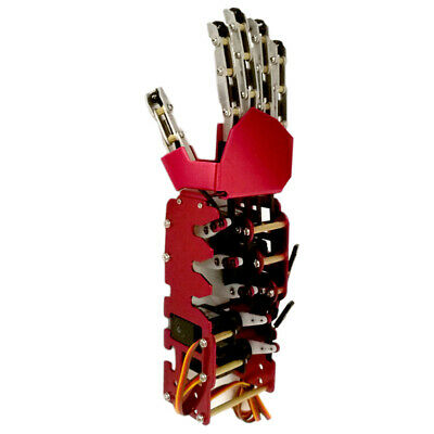 Smart Mechanical Manipulator Robot Arm Right Hand for Robot Cars Accs Red