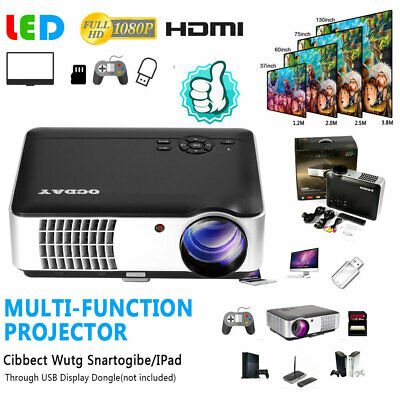 8000 Lm 4K HD 1080P LED Android 6.0 Wifi Smart Home Projector Theater HDMI ge