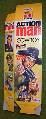 VINTAGE ACTION MAN 40th EMPTY BOX FOR COWBOY ( NO DOLL ) FLAT PACK
