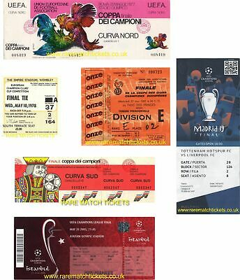 reproduction all 6 LIVERPOOL european champions league final set winning tickets