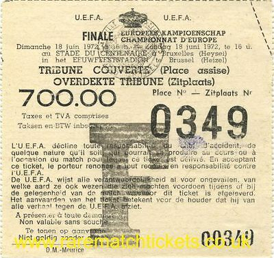 reproduction EUROPEAN CHAMPIONS HENRI DELAUNAY FINAL TICKET GERMANY FRANCE SPAIN
