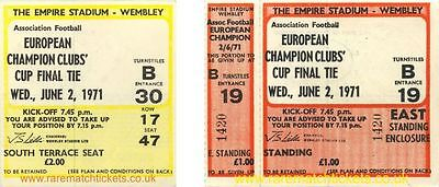 reproduction 1971 AJAX PANATHINAIKOS european cup final ticket [RMT]