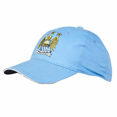 Mens Manchester City Core Crest Logo Baseball Caps Velcro MCFC Football Club Hat