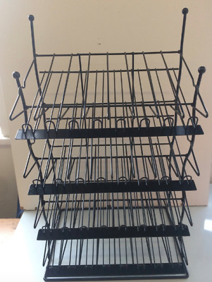 Nail Polish Stand Black Metal / 4 Tier / 32 Rows / Holds Upto 192 Bottles