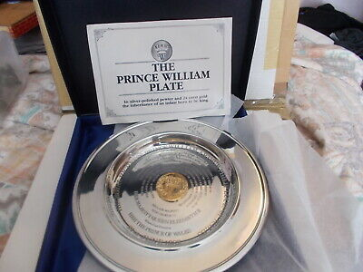 Stapledon Fine Arts Ltd Edt The Prince William Plate Silver-Polished Pewter 1982