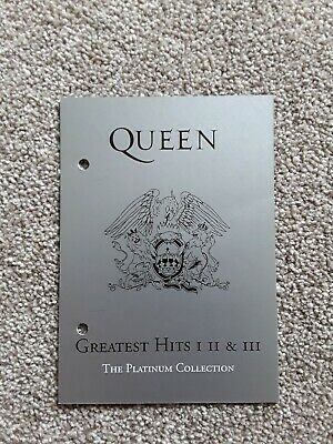 QUEEN - The Platinum Collection Greatest hits 1,2 & 3 postcard - Rare