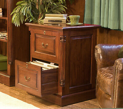 Baumhaus LA ROQUE Solid Mahogany Two Drawer Filing Cabinet (IMR07A) SRP £619