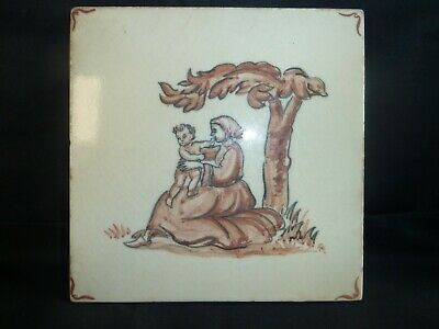 Vintage Fireplace or Wall Tile Delft Style
