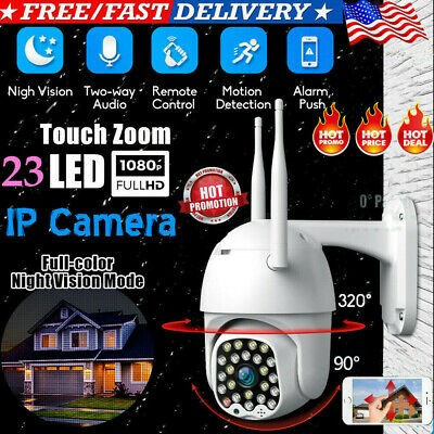 1080P IP66 CCTV Camera Waterproof Outdoor WiFi PTZ Security Wireless IR IP Cam
