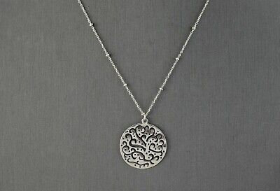 """Silpada Sterling Silver """"A Cut Above"""" Pendant Beaded Chain Necklace N2328"""