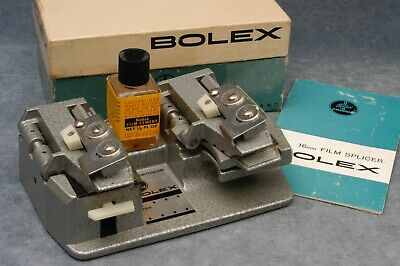 Bolex 16Mm Film Splicer In Box With Instructions, Made In Switzerland