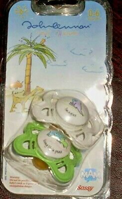 Rare - John Lennon - Set of 2 Baby Pacifiers - IMAGINE - Real Love Sketches …