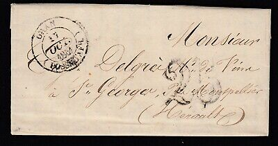 Cad Type 14 Oran Possession Afrique St Georges Herault 1851 Lettre Cover France