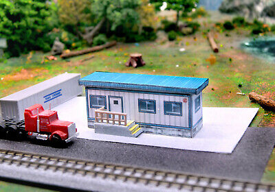 N Scale Construction Trailer Mobile Modular Office Building DIY Cardstock Kit