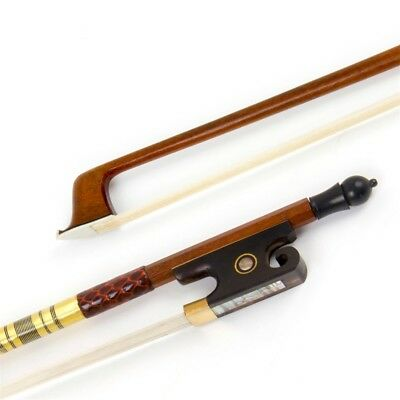 4/4 Full Size Violin Bow Parts Pernambuco Round Stick Horse Hair for Beginner