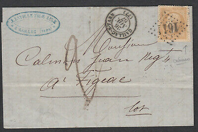 N°21 Timbre Reutilise Taxe 2 Gc 1661 Gaillac Tarn Figeac Lot Lettre Cover France
