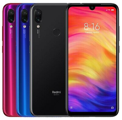 "Xiaomi Redmi Note 7 64GB (FACTORY UNLOCKED) 6.3"" 4GB RAM Black Blue Red (Global)"