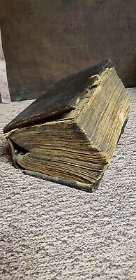 1739 GERMAN Bible? Christian? book ancient old. Bought for 18 shillings