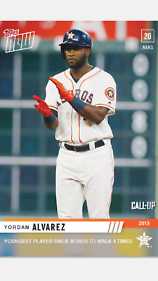 2019 Topps Now Rookie Call-Up Card Astros Yordan Alvarez #720 Young Walk 4 Times