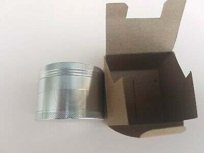 LARGE Herb And Spices 2.5 Inch 4 Piece Grinder Tobacco/Spice/Herb -Gold,magnetic