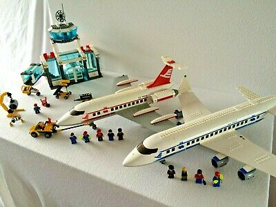 Lego City Airport 7894, Passenger Plane 7893, Airport Fire Truck 7891 and 7901