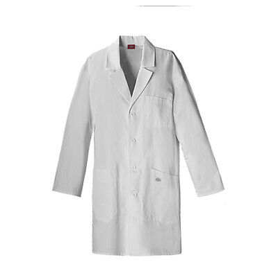 "Dickies EDS 83404 Unisex 37"" Unisex Lab Coat Medical Uniforms Scrubs"