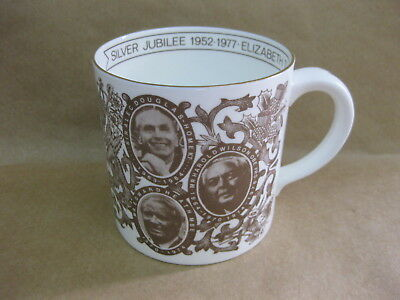 Queen Elizabeth II Silver Jubilee Large Mug ~ The Queen's Prime Ministers