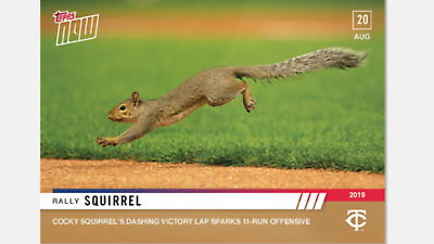 2019 Topps Now Card Minnesota Twins Rally Squirrel #724 Sparks 11-Run Offense