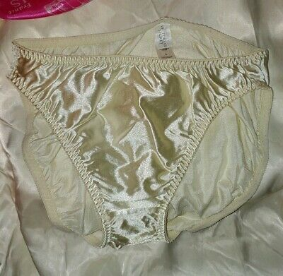 Vintage Victoria's Secret 2nd Skin Satin Panties Size L Brief Low Rise Panty