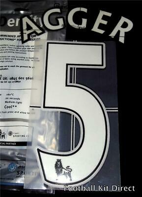 Liverpool Agger 5 Name/Number Set Football Shirt Lextra 07-13 Sporting ID Player