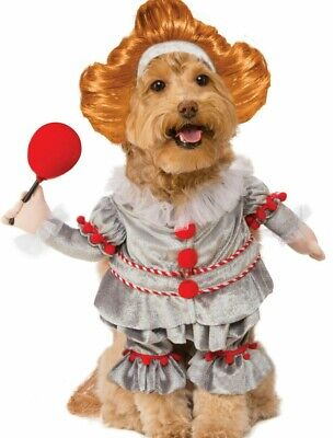Walking Pennywise IT Movie Scary Clown Pet Dog Cat Costume Horror