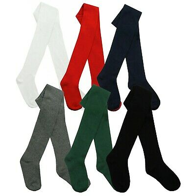 3 x Girls Tights for School Cotton Rich