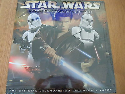 STAR WARS EPISODE II: ATTACK OF THE CLONES 2003 CALENDAR (New / Shrinkwrapped)