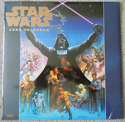 STAR WARS 1995 CALENDAR - BRAND NEW Shrinkwrapped *Collectable*