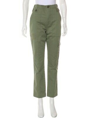 Marc Jacobs Collection Green High Rise Waist Straight Leg Pants Size 12