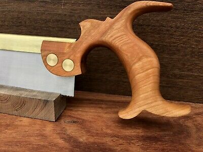 """9"""" Dovetail Saw Cherry Handle Folded Brass Back"""