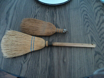 Antique Primitive Early Old Wooden Farmhouse Kitchen*lot 2* Hand/wisk Brooms