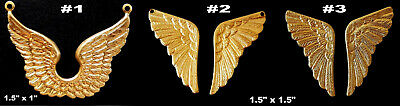 Vintage Brass Stampings / Ancient Wings Single Piece or Pairs