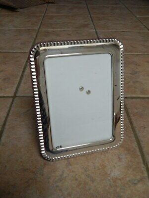 Beautiful Art Deco   Italian Sterling Silver Lg Rectangle Picture Frame